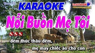 Nỗi Buồn Mẹ Tôi - Karaoke Nhạc Sống Tùng Bách