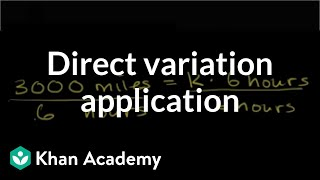 Direct Variation Application