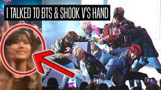 I MET BTS & SHOOK TAE'S HAND AT AMAs!