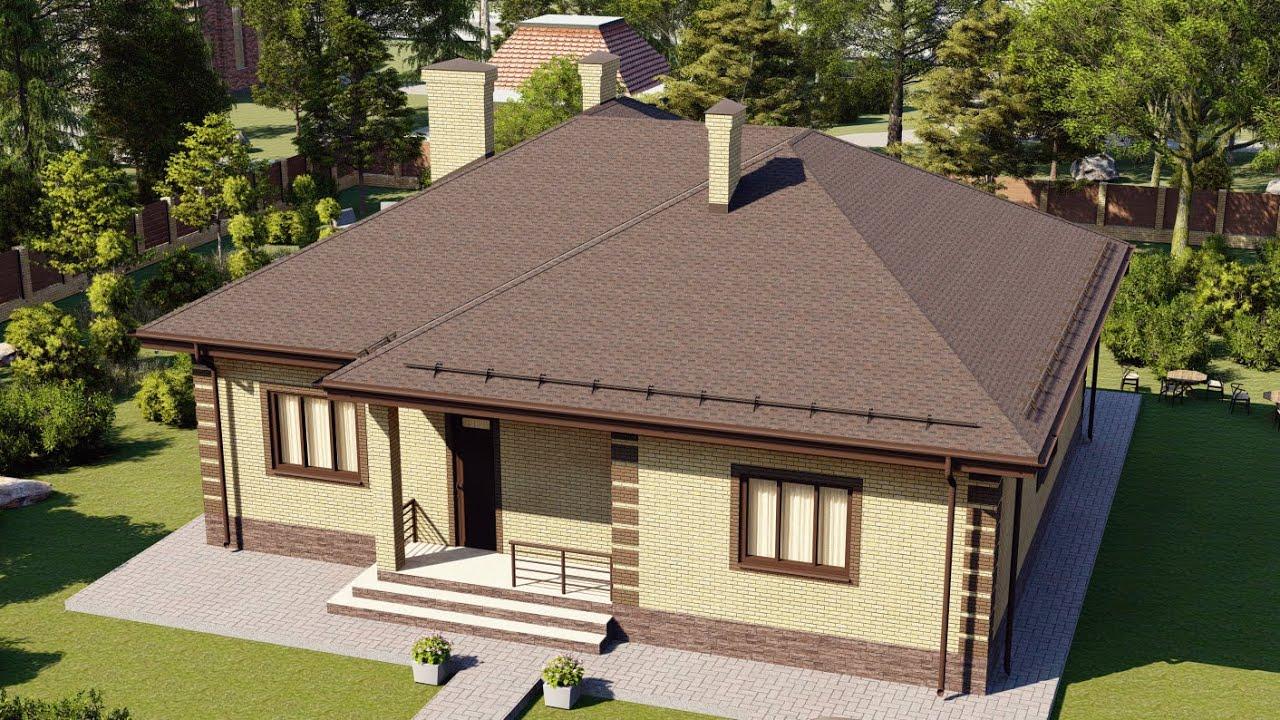 Видеопроект одноэтажного дома с удобной планировкой