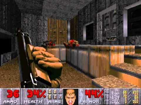 Doom II Walkthrough - Map 32 - Grosse (Secret level 2) by