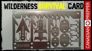 Wilderness Survival Card: Readyman | Canadian Prepper
