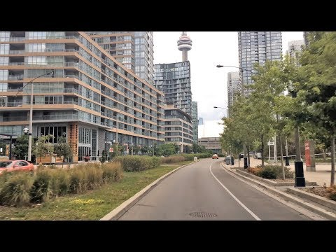 Driving Downtown - Toronto Sports Street 4K - Canada