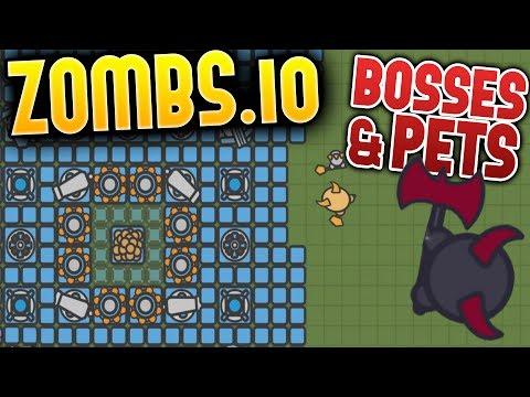 Zombs.io - The Big Demon Boss! - Pets & Boss Update - The Diamond Base! - Zombs.io Gameplay