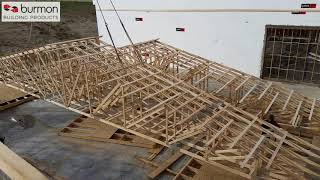 Hurricane Anchor for Wood Frame Double Top Connection to Truss/Rafter