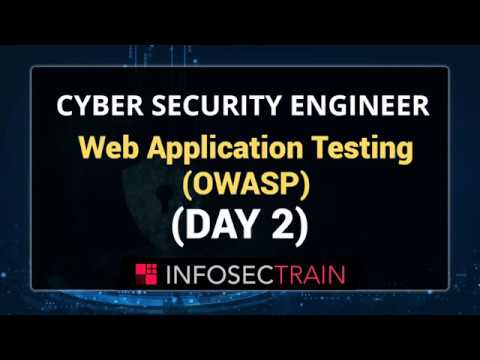 Web Application Testing | OWASP Top 10 | Cyber Security Training ...
