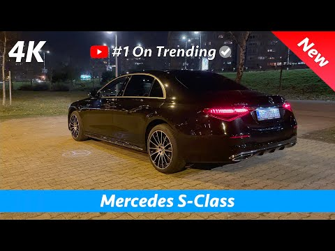 Mercedes S-Class 2021 AMG Line - Night review in 4K | Exterior - Interior, Crazy NEW Ambient lights!