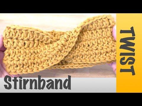 Einfaches Stirnband Mit Twist Häkeln Super Für Anfänger Geeignet