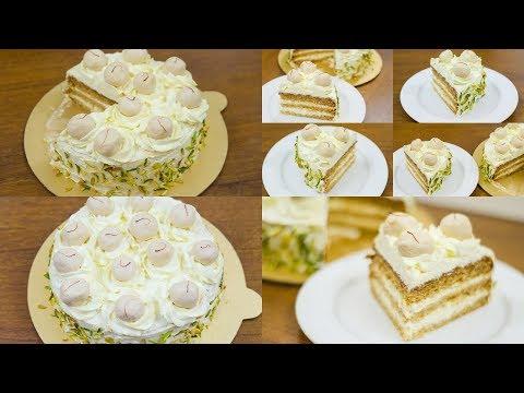 EGGLESS RASMALAI CAKE RECIPE l WITHOUT OVEN