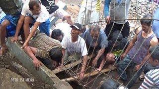 Dua Bocah Tertimpa Tembok Penahan Setinggi 3 Meter saat Bermain, Evakuasi Berlangsung Dramatis