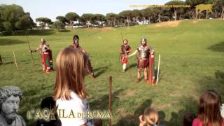 preview picture of video 'L'AQUILA DI ROMA 2013 - L'OMBRA DI MARCO AURELIO - Didattica #1 L'armamento legionario'