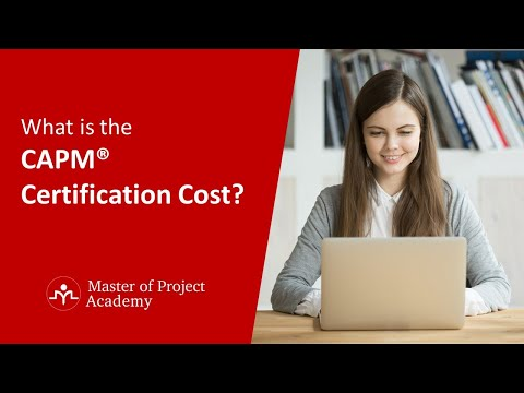 What is CAPM® Certification Cost? - YouTube