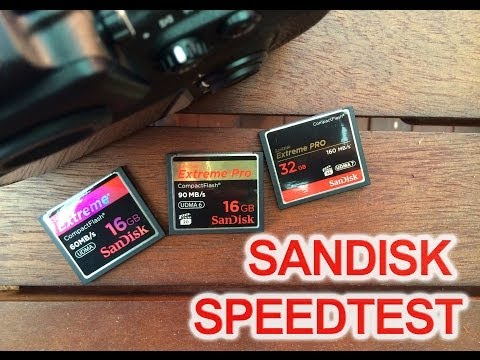 Sandisk Compact Flash Speed Test (60mb/s, 95mb/s & 160mb/s) with Nikon D800 RAW