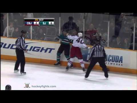 Ryane Clowe vs. Jared Boll
