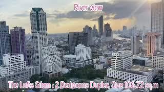 The Lofts Silom | Luxury 2 Bed Duplex Condo by Raimon Land at Silom, River View - 25% Discount!