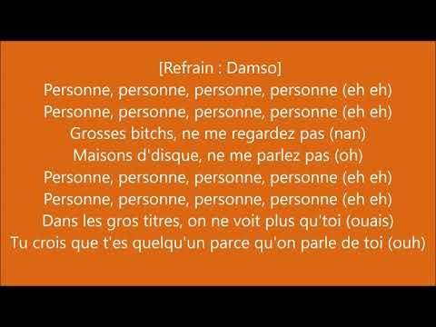 Vegedream - Personne feat Damso (Parole/Lyrics)