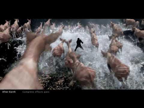 "CGI VFX Breakdowns 1080P : ""After Earth Okapi Stampede"" by Jonathan Freisler (No Sound)"