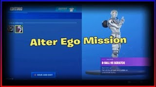 Unlocking the Scratch style for 8-Ball vs Scratch in fortnite | Alter ego mission