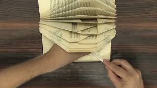 Folded Book Art - Clear Step By Step Tutorial - Complete Online Workshop - Learn How To Fold