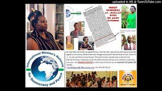 Mme Marceline NDUWAMUNGU Araduhamagarira Kwitabira Imyigaragambyo Yo Ku Ya 10 Nyakanga 2020