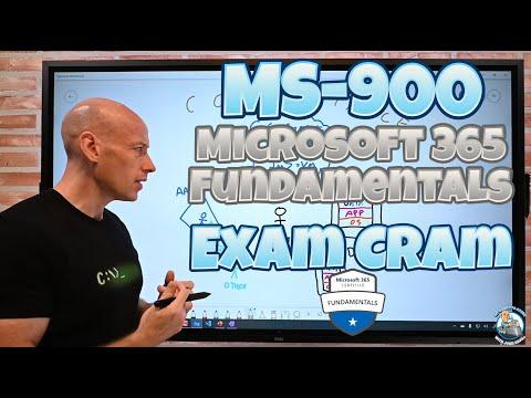 MS-900 Microsoft 365 Fundamentals Exam Cram and Overview ...