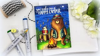 Campfire Light With Copic Markers: Rambling Day Recap