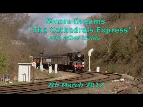 34052 'Lord Dowding' & 47746 with Steam Dreams 'Cathedrals E…