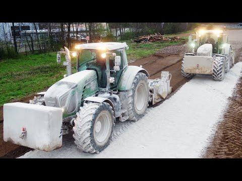 Maaßen Erd- und Tiefbau Teil 3 - Action auf der Baustelle in 4K (Bagger + Traktoren)