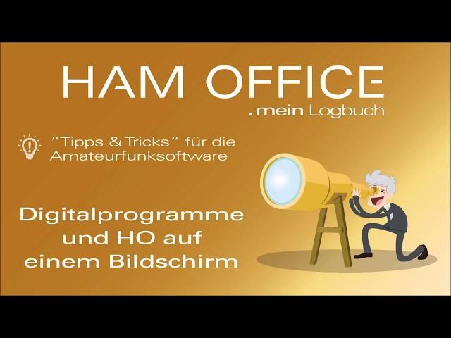 Youtube-Startbild zu HAM OFFICE Tipps: Digitalprogramme und HO auf einem Bildschirm
