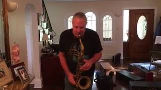 "Doug Webb BURNING IT UP on the 10MFAN ""The Classic"" hard rubber tenor sax  mouthpiece"