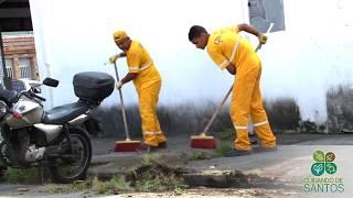 Cuidando de Santos realiza limpeza nos bairros V. Belmiro e Campo Grande