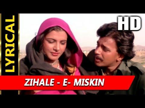 Download Zihale - E- Miskin With Lyrics | Lata Mangeshkar, Shabbir Kumar | Ghulami 1985 Songs | Mithun HD Mp4 3GP Video and MP3