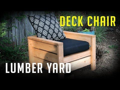 DIY Lumber Yard Deck Chair