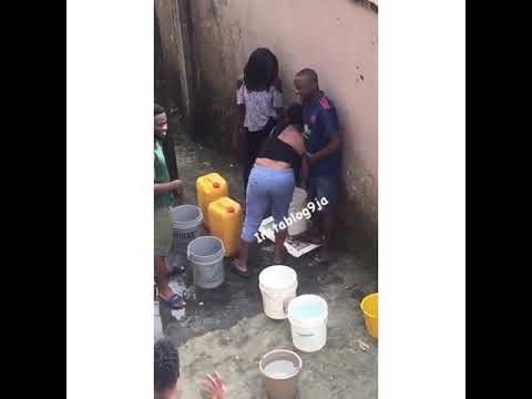 Uniport Students Fight dirty over water