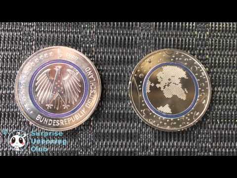 5€ Münze Neue 5 Euro Planet Erde mit Blauen Polymer-Ring Sammlermünze Bundesrepublik Deutschland