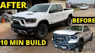 10 MIN BUILD WRECKED RAM REBEL from copart