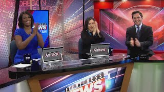 Eyewitness News moring team congratulates Reporter Mariana Rodriguez's brother