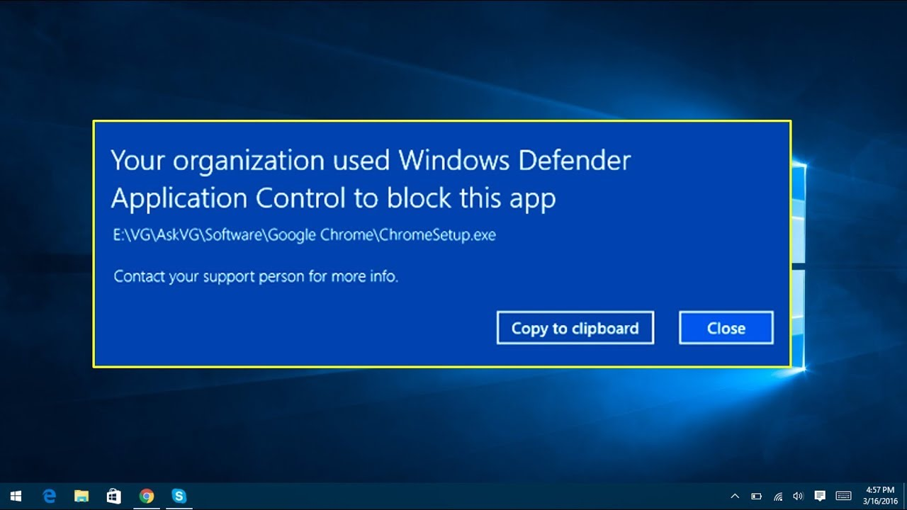 Block an application in Windows 10