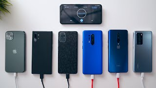 OnePlus 8 Pro vs Galaxy S20+ vs iPhone 11 Pro vs P40 Pro vs Samsung Note 10+ Charge Test!