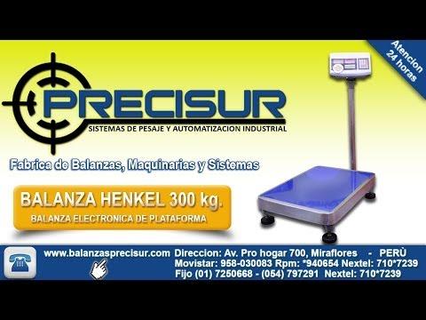 Balanza electronicas de Plataforma HENKEL de 300 kg. - Balanzas Precisur