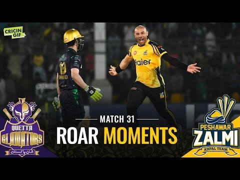 PSL 2019 Match 31: Quetta Gladiators vs Peshawar Zalmi | ROAR MOMENTS