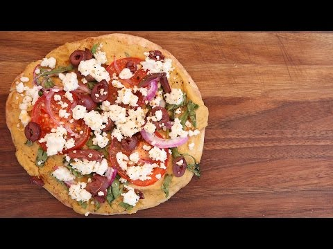 Grilled Mediterranean Pita Pizza Recipe | Vegetarian BBQ