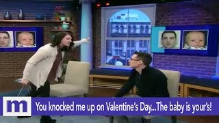 You knocked me up on Valentine's Day..The baby is yours! | The Maury Show