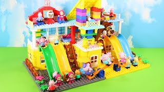 Peppa Pig Legos House Construction Sets - Lego Duplo House Creations Toys For Kids #7