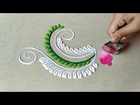 Quick freehand rangoli design for rakshabandhan festival