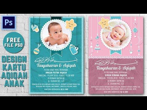 mp4 Desain Undangan Aqiqah, download Desain Undangan Aqiqah video klip Desain Undangan Aqiqah
