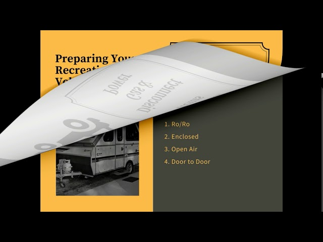 Top Rated RV Shipping & Motor Home Transport Services