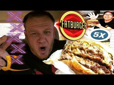 FATBURGER ☆XXXXXL 5X 5-POUND MEGA CHEESEBURGER☆ Food Review!!!