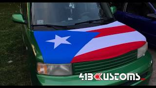 Puerto Rico Car Hood Flag Covers