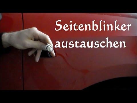 Seitenblinker tauschen Seat Ibiza Fabia Polo - Glühbirne Seitenblinker Seitenblinkerbirne wechseln